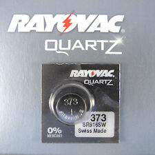1 x Rayovac 373 Silver Oxide  SR916SW 1.55V Watch Battery Swiss Made