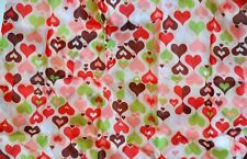 Eco Foldable Fashion Shopping Tote Bag Hearts Multi Color Red Pink Green