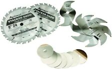 8 in. x 24-Tooth Stacked Dado Saw Blade Set Durable Carbide Blades Clean Cut