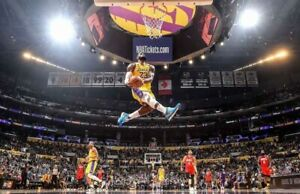 LA Lakers - LeBron James - Flying Dunk - NBA Poster 36 IN X 24 IN