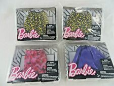Barbie Fashions Skirts Lot of 4 Various Styles New Sealed