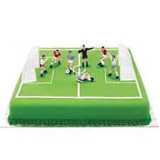 Wilton Decora 0816010 9-Piece Football Set with 7 Players and 2 Goals, Plastic,