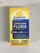 Renew Life Ultimate Flora Probiotic Supplement 30 Capsules - Exp 09/2020