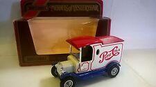 MATCHBOX 1:35 AUTO DIE CAST MODEL T FORD 1912 BIANCO ROSSO BLU PEPSI   Y-12  Y12