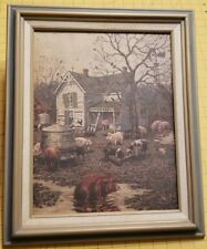 Schmid Lowell Davis Signed Framed Lithograph The Old Home Place 1993 L.E. 11/750