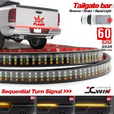 "Tailgate STROBE BRAKE 60"" TRIPLE LED Sequential Turn Signal Brake Light Strip"