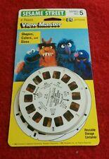Vintage 1982 Sesame Street View Master 3D Picture Reels Shapes Colors Sizes NOS
