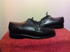 Florsheim Worthmore Long Wingtip Black Pebble Leather Derby Shoes Sz 8.5C USA