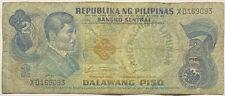 1970+ Pepublika Ng Pilipinas Filipino 2 Piso Banknote Philippines Peso Pre-Coin