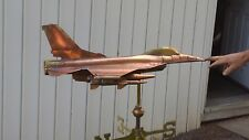 Beautiful copper F-16 Fighter Jet 3D weathervane,Sold As Described Below.