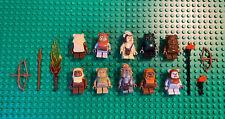 LEGO Star Wars minifigures Ewoks LOT Teebo,Logray,Chirpa,Wicket,Wunko,Tippet +3