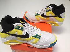2007 Nike AIR TECH CHALLENGE 1 Blanc Noir Sonic Jaune AGASSI Taille UK 10 Entièrement neuf dans sa boîte
