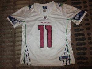 Larry Fitzgerald Arizona Cardinals Super Bowl NFL Reebok Jersey Womens LG L