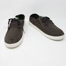 Sanuk Pick Pocket Lace Up Sneakers Brown Mens Size 10 New