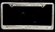 Vintage Roy Carver Rolls Royce Newport Beach Dealer License Plate Frame Rare!