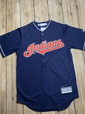 Cleveland Indians MLB Majestic Authentic Cool Base Adult Jersey Medium S blue