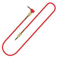 Audio Stereo Kopfhörer Anschlusskabel 1m 3,5mm Stecker > Stecker Rot Gold