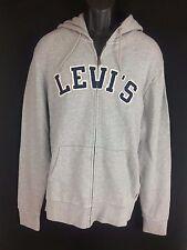 Men's grey cotton full zip hoodie sweatshirt Jacket Levi's Size S New with tags