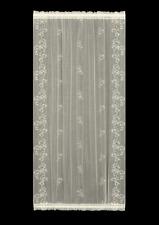 "Heritage Lace 42""Wx63""L ECRU ""SHEER DIVINE"" Door Panel -Trailing Vines USA MADE!"