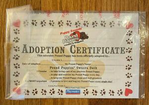 Original 1990 Pound Puppy Adoption Certificate in original wrap unused