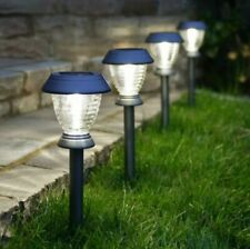 4PC Solar Power LED Light Up Warm White Stake Path Lights | Garden Party