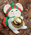 Vintage Xmas Brooch Pin White Happy Mouse Costume Jewellery Retro Christmas