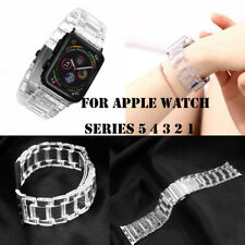 For Apple Watch 38/40 42/44mm Replacement Plastic Sport Transparent Watch Band
