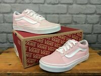 VANS OLD SKOOL PINK WHITE TRAINERS VARIOUS SIZES CHILDRENS LADIES GIRLS T