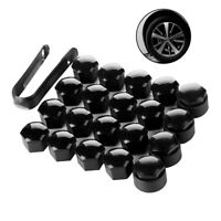 20X 18mm Black Alloy Wheel Nut Bolt Covers Caps Universal For Any Car Locking UK