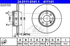 ATE Bremsscheiben 24.0111-0141.1 Opel Astra G vorne 411141