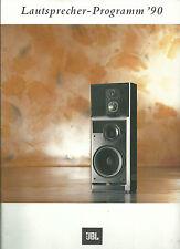 JBL haut-parleur programme 1990/catalogue prospectus/XPL HP HP LX série