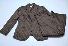 Worthington Womens Size 14 Brown Striped Blazer & Size 10 Cropped Pants