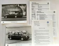 1998 VW Volkswagen Cabrio Convertible Car Product Media Guide Brochure and print