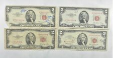 Lot (4) Red Seal $2.00 US 1953 or 1963 Notes - Currency Collection *370