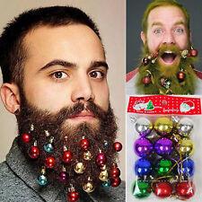 12 Quality Clip On Beard Baubles Decorations Secret Santa Xmas Present Gift POP