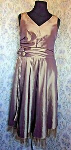 Shimmer sheen party dress by B. YOUNG Size L & 14 Light catching shades of brown