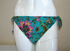 Debenhams UPF50+ Multi Floral Bead Sequin Side Tie Bikini Bottoms Size 18 New