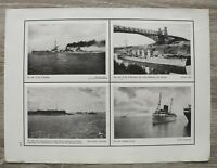 Blatt 1914-18 S.M.S. GOEBEN BRESLAU Königin Luise Themse Minen Sperr Marine 1.WK
