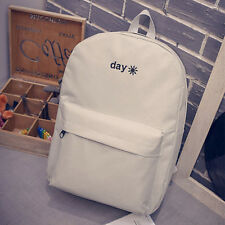 Women Girls Day Canvas Backpack Shoulder School Bag Casual Work Zipper Rucksack