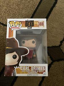 POP Television - The Walking Dead - #388 - Carl Grimes Vinyl Figure (BLOODY) NIB