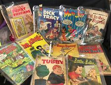 Vtg Comics Slow Death, Fantagor, Young Lust, Skull, Zap, Walt Disney's lot of 30