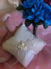 Wedding Ceremony Off White Wedding Ring Bearer Pillow