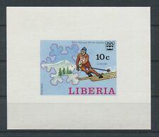 LIBERIA OLYMPIA WINTER OLYMPICS 1976 LUXUSBLOCK EPREUVE DE LUXE c2065