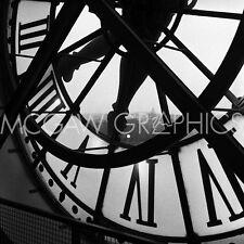 """ARTIN TOM - ORSAY CLOCK 12"""" x 12"""""""
