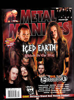 Metal Maniacs Magazine - Iced Earth, Entombed  Fall  2007 Free US S/H