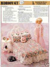 Fashion Doll Bedroom Set  ~  plastic canvas pattern