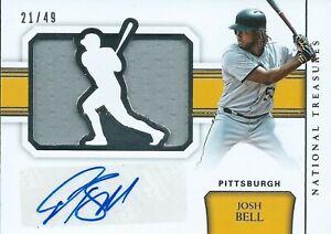 2018 Panini National Treasures Josh Bell 21/49 Autograph Jersey Pirates MLB