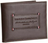 New Tommy Hilfiger Security Men's Premium Leather Credit Card Billfold Wallet
