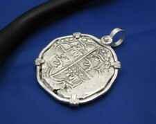 Piece Of Eight Sterling Silver Replica Shipwreck Pirate Coin Pendant