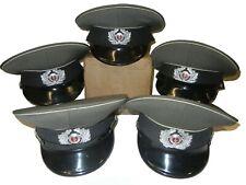 Lot 5 EAST GERMAN stazi MILITARY visor peaked OFFICER HAT CAP Nva bdu Gdr Hats